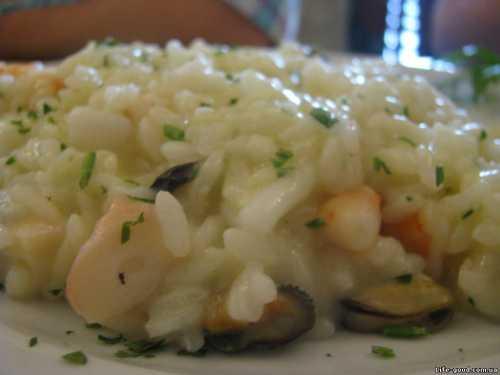 Ризотто с морепродуктами – рис по